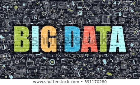 Stock photo: Data Processing in Multicolor. Doodle Design.