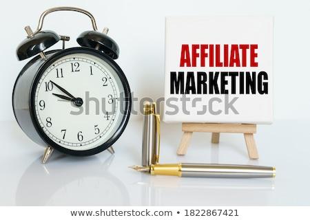 Affiliate Marketing on Chalkboard in the Office. Stock photo © tashatuvango