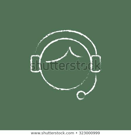 verde · pizarra · garabato · iconos · moderna · línea - foto stock © tashatuvango