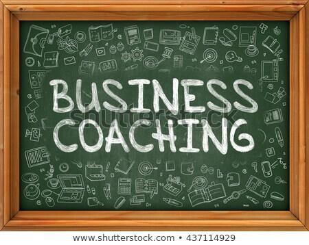 ビジネス コーチング 手描き 緑 黒板 いたずら書き ストックフォト © tashatuvango