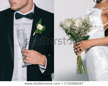 Stock photo: Young woman with champagne glass