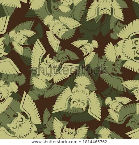 охотник текстуры орнамент военных армии шаблон Сток-фото © MaryValery