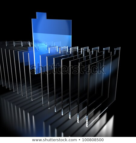kaart · bestand · 3D · oranje · moderne · toetsenbord - stockfoto © tashatuvango