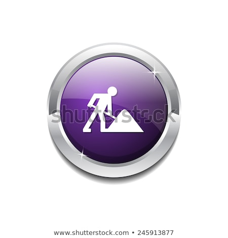 under construction round vector web element circular button icon stock photo © rizwanali3d