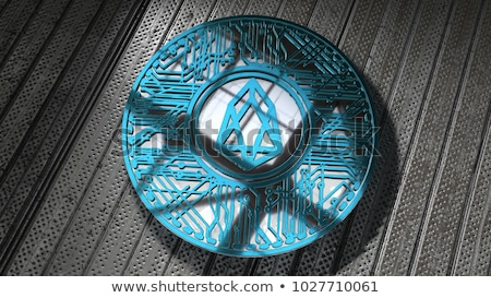EOS - Cryptocurrency Coin. 3D rendering Stock photo © tashatuvango