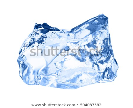 pieces of clear ice on a blue background close up Stock photo © artjazz
