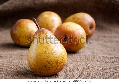 Poires toile de jute sac blanche fruits Photo stock © Digifoodstock
