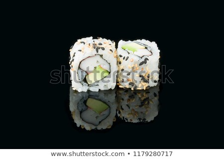 In front sushi roll california Stock photo © Cipariss