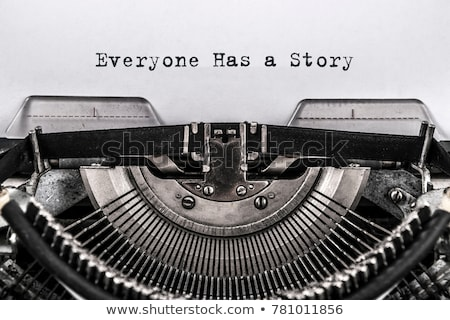 Stock photo: What is your story typed on a vintage typewriter