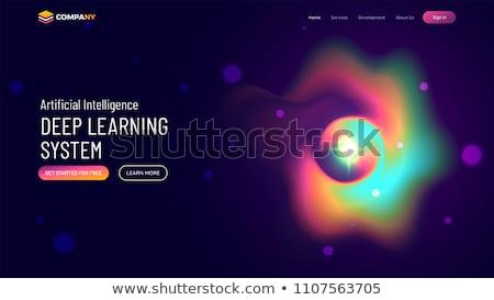 Inteligência artificial vetor aplicativo interface modelo cérebro Foto stock © RAStudio