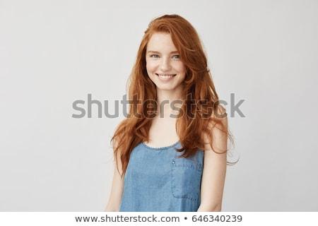 美 肖像 若い女の子 青 髪 かわいい ストックフォト © fotoduki