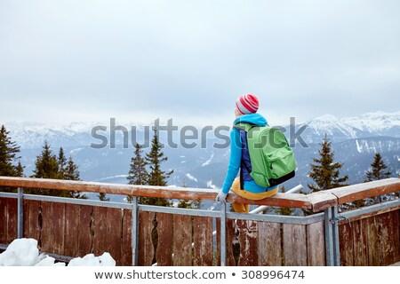 escursionista · ragazza · illustrazione · camping · attrezzi - foto d'archivio © colematt