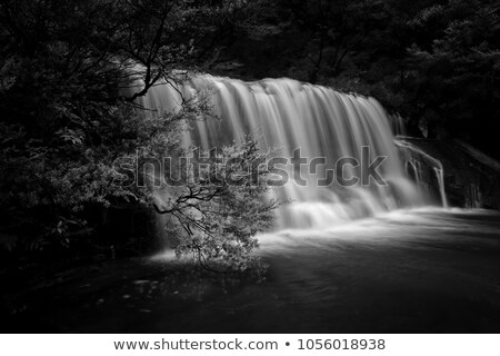 Kaskada wodospad niebieski góry piękna doliny Zdjęcia stock © lovleah