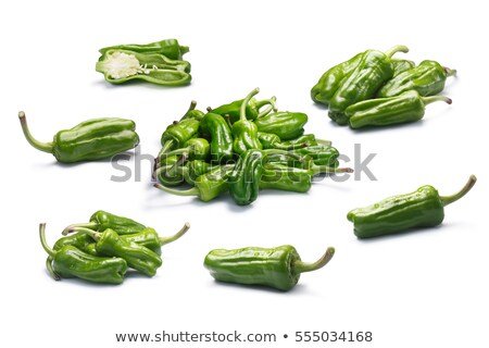 Set of Friggitelli, pepperoncini or Greek peppers, paths Stock photo © maxsol7