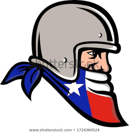 Biker Wearing Bandanna Mascot Stock photo © patrimonio