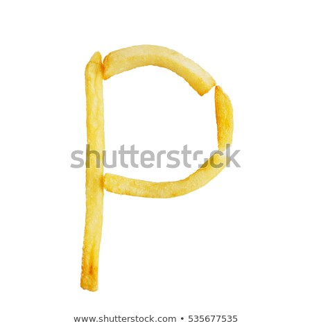A letter P for potatoes Stock photo © colematt