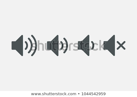 Web speaker audio volume suono icona Foto d'archivio © blaskorizov