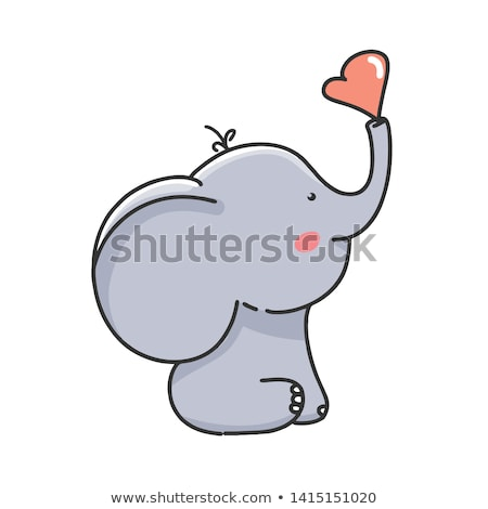 fekete · kisebbségi · elefánt · indiai · kézzel · rajzolt · firka - stock fotó © pikepicture