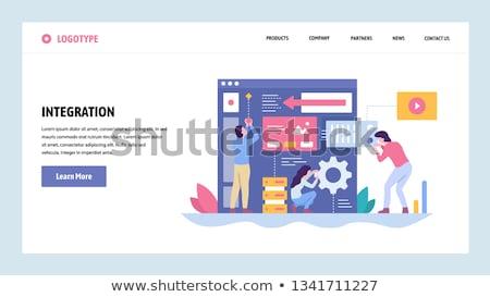Yazılım bütünleşme metin modern dizüstü bilgisayar ekran Stok fotoğraf © Mazirama