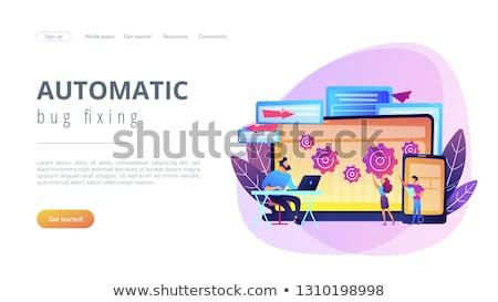 Atravessar bicho aterrissagem página revelador Foto stock © RAStudio