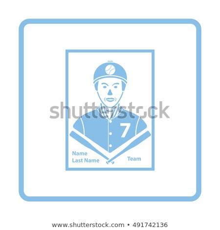 baseball · kártya · ikon · szürke · zöld · felirat - stock fotó © angelp