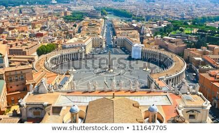Kare Vatikan gökyüzü Bina şehir kilise Stok fotoğraf © hsfelix