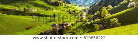 Scenic village landscape.Travel and destinations concept. Stock photo © carloscastilla