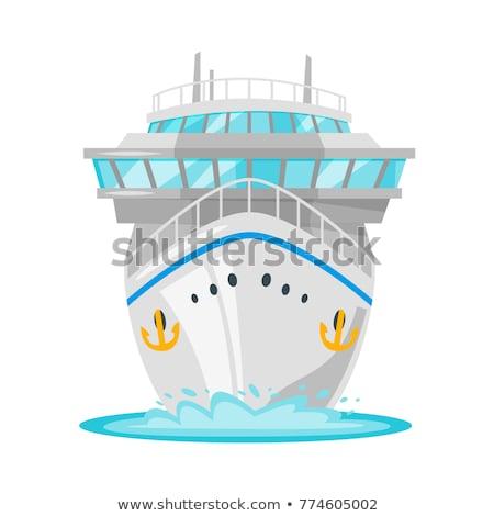 Cruise icon grijs oceaan Stockfoto © angelp