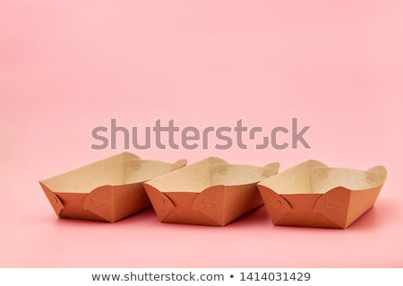 Milieuvriendelijk fast food papier top ontwerp Stockfoto © furmanphoto