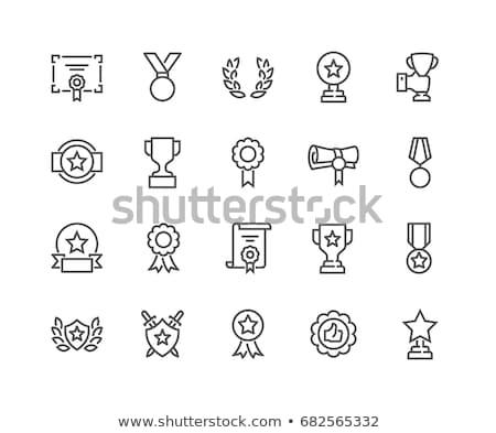 Gunning vector lijn icon geïsoleerd witte Stockfoto © smoki