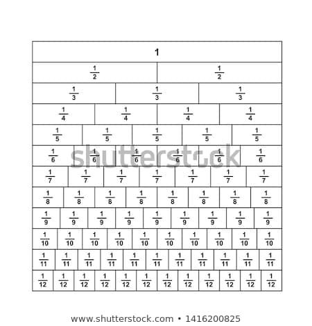 A math fractions worksheet Stock photo © colematt