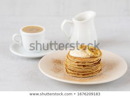 Cinnamon banana pancakes Stock fotó © Peteer