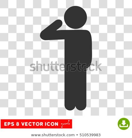 Man kid jongen politie verslag illustratie Stockfoto © lenm