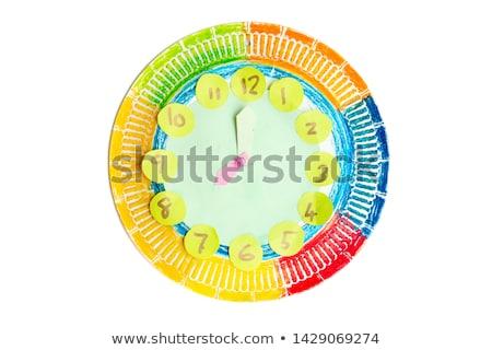 Colorful child handwork clock  Stock photo © szefei