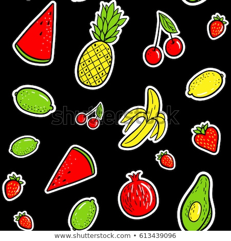 Pop art fashion chic seamless pattern with patches, pins, badges and stickers Stock photo © marish
