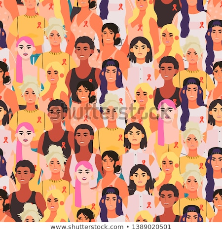 Stock photo: Volunteers Support Vector Seamless Pattern
