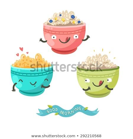 Three bowls of oatmeal  Stock photo © Alex9500