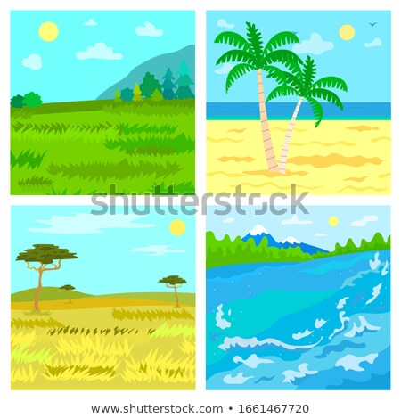 Steppe and Beach, Savannah and River, Traveling Stock photo © robuart