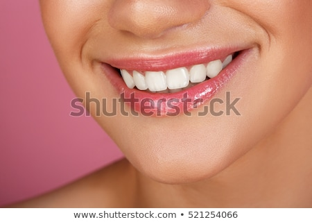Perfeito sorrir belo completo lábios rosados rosa Foto stock © serdechny
