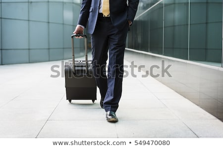 Business Trip of Man, Tourist in Airport Vacation Stock photo © robuart