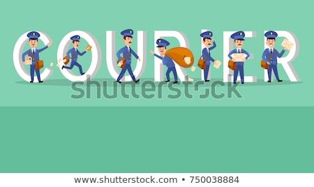 配信 · バナー · クーリエ · 郵便配達員 · メール - ストックフォト © robuart