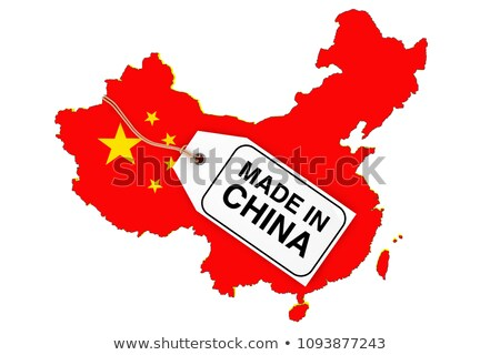 China and Chinese Trade Market, Map with Flag Stock photo © robuart