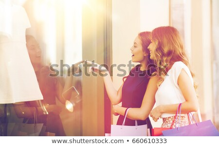 woman in the street pointing finger Stock photo © Lopolo