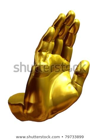 Simbólico mano dedos gesto ilustración vector Foto stock © TRIKONA