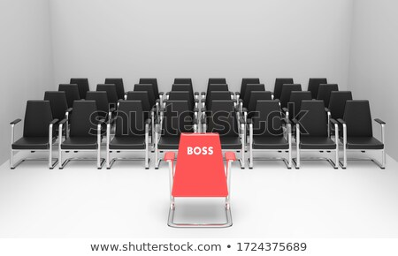 the red leader in front of the row Stock photo © marinini