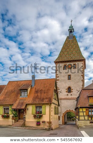 Upper Gate in Bergheim, Alsace, France Stock photo © borisb17