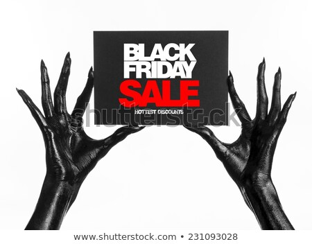 black friday sale banner in red and black theme Stock photo © SArts