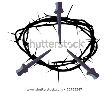 silhouette of a crown of thorns with three nails Stock photo © mayboro