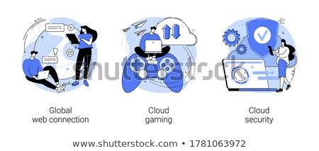 Ordinateur jeux vecteur métaphores internet vidéo Photo stock © RAStudio