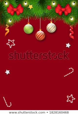 Christmas Party on 25th of December, Xmas Poster Stock photo © robuart